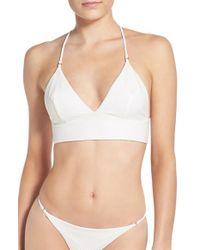 Lovers + Friends - White 'palma' Longline Bikini Top - Lyst