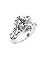 Lagos   Metallic 'love Knot' Ring   Lyst