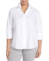 Foxcroft | White 'paige' Non-iron Cotton Shirt | Lyst