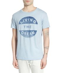 Sol Angeles - Blue 'living The Dream' Graphic Crewneck T-shirt for Men - Lyst