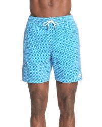 Canali - Blue 'geo Print' Swim Trunks for Men - Lyst