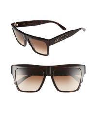 MCM - Brown 55mm Studded Navigator Sunglasses - Havana for Men - Lyst