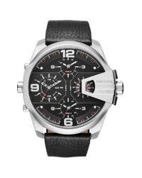 DIESEL - Black Leather Watch Dz7376 for Men - Lyst