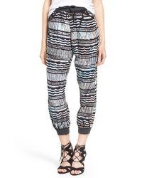 Sol Angeles Black 'mudcloth' Jogger Pants