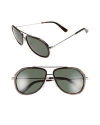 MCM - Metallic 58mm Aviator Sunglasses - Havana - Lyst