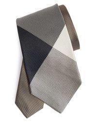 Burberry | Multicolor Textured Check Silk Tie for Men | Lyst