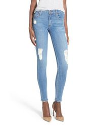 James Jeans - Blue Destroyed Denim Leggings - Lyst