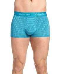 Calvin Klein - White Stripe Trunks for Men - Lyst