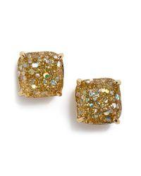 Kate Spade - Metallic Mini Small Square Stud Earrings - Lyst