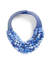 Fairchild Baldwin | Blue Multirow Beaded Collar Necklace | Lyst