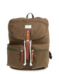 Sandqvist - Natural 'roald' Canvas Backpack - Lyst