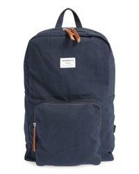 Sandqvist - Blue 'kim' Canvas Backpack - Lyst