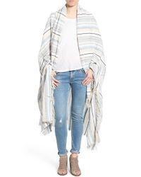 Rag & Bone - White 'plains' Stripe Blanket Wrap - Lyst