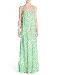 Lilly Pulitzer - Green Philomena Print Jersey Maxi Dress - Lyst