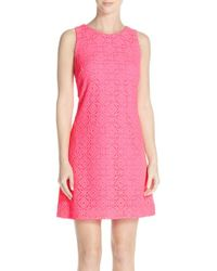 Lilly Pulitzer - Pink Callie Lace A-line Dress - Lyst