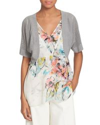 Tracy Reese - Gray Open Back Shrug - Lyst