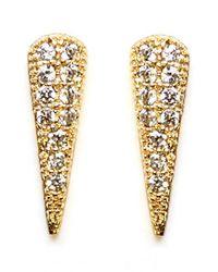 Melanie Auld | Metallic Pave Cubic Zirconia Spike Stud Earrings | Lyst