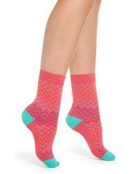 Paul Smith Pink Georgia Zigzag Crew Socks