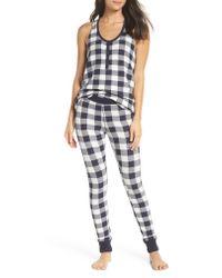 Make + Model - Blue Cozy Brushed Hacci Pajamas - Lyst