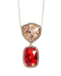St. John | Red Swarovski Crystal Multi Pendant Necklace | Lyst