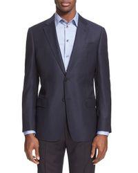 Armani | Blue G-line Trim Fit Wool Blazer for Men | Lyst