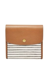 Fossil - Brown 'small Haven' Wallet - Lyst