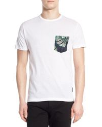 French Connection - White Pocket T-shirt for Men - Lyst