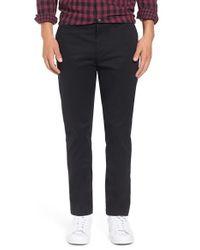 Original Penguin | Black 'p55' Slim Fit Stretch Cotton Chinos for Men | Lyst