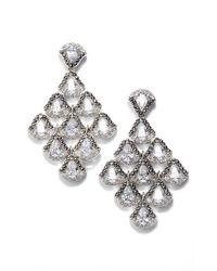Judith Jack | Metallic Semiprecious Stone Chandelier Earrings | Lyst