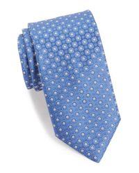 Canali - Blue Floral Medallion Silk Tie for Men - Lyst