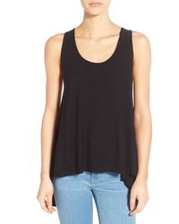 Michelle By Comune - Black High/low Swing Tank - Lyst