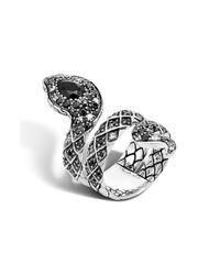 John Hardy | Metallic 'legends' Diamond & Sapphire Double Coil Ring | Lyst