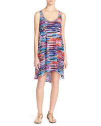 Gottex Multicolor 'venice Beach' Mesh Cover-up Dress