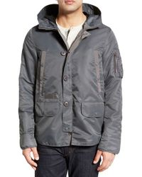 Spiewak - Gray 'spitfire N3-b' Water Repellent Hooded Jacket for Men - Lyst