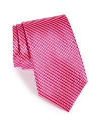 Nordstrom - Pink Nordstrom Stripe Silk Tie for Men - Lyst