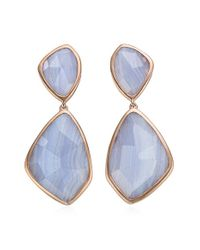 Monica Vinader | Metallic 'siren' Semiprecious Stone Double Drop Earrings | Lyst