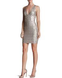 Dress the Population   Metallic Peyton Sequin Body-con Dress   Lyst
