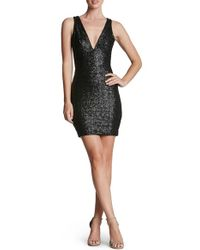 Dress the Population | Metallic Peyton Sequin Body-con Dress | Lyst
