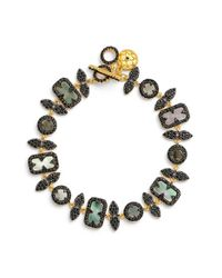 Freida Rothman | Black Cubic Zirconia & Mother Of Pearl Line Bracelet | Lyst
