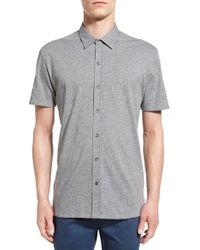 W.r.k. Gray . 'metropolitan' Knit Short Sleeve Sport Shirt for men