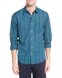 Relwen - Green 'airtex Madras' Classic Fit Plaid Sport Shirt for Men - Lyst