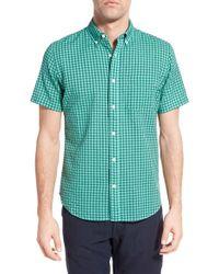 Relwen | Green Classic Fit Check Short Sleeve Sport Shirt for Men | Lyst