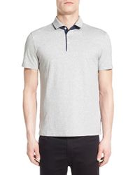 BOSS - Gray 'pressler' Slim Fit Jersey Polo for Men - Lyst