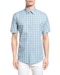 Zachary Prell - Blue 'drew' Trim Fit Short Sleeve Sport Shirt for Men - Lyst