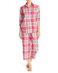 Lauren by Ralph Lauren - Red Capri Pajamas - Lyst