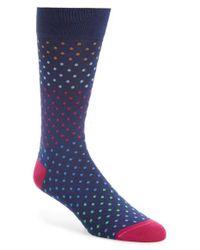 Bugatchi | Blue Mercerized Cotton Blend Socks for Men | Lyst