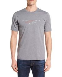 Travis Mathew - Gray 'you Can't' Graphic T-shirt for Men - Lyst