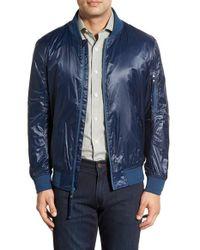 Marc New York - Blue Windbreaker Bomber Jacket for Men - Lyst