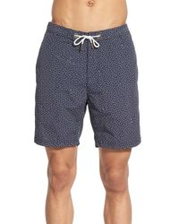 Barney Cools - Blue Print Swim Trunks for Men - Lyst