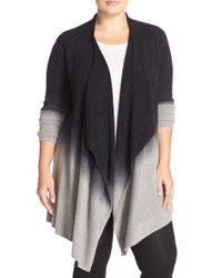 Barefoot Dreams | Multicolor Barefoot Dreams Drape Front Cardigan | Lyst